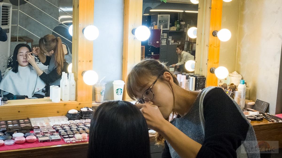 k-beauty salon korea seoul gangnam make-up