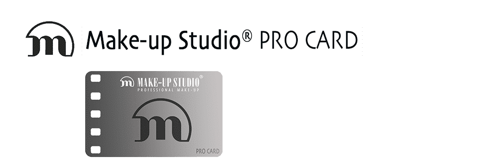 make-up studio pro card