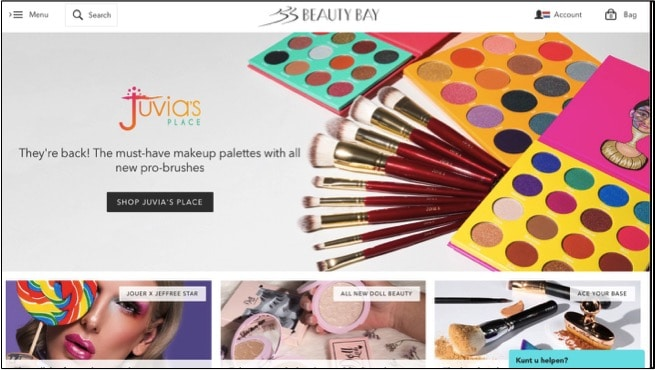 beauty make-up webshops