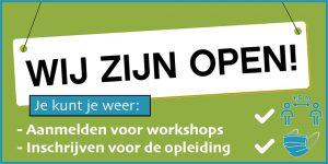corona wij zijn open visagie opleiding cursus workshop