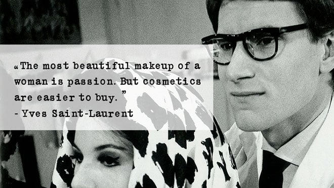 YSL make up visagie opleiding yves saint laurent quote passion cosmetics
