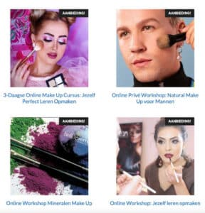 Online Make Up Workshops Aanbieding